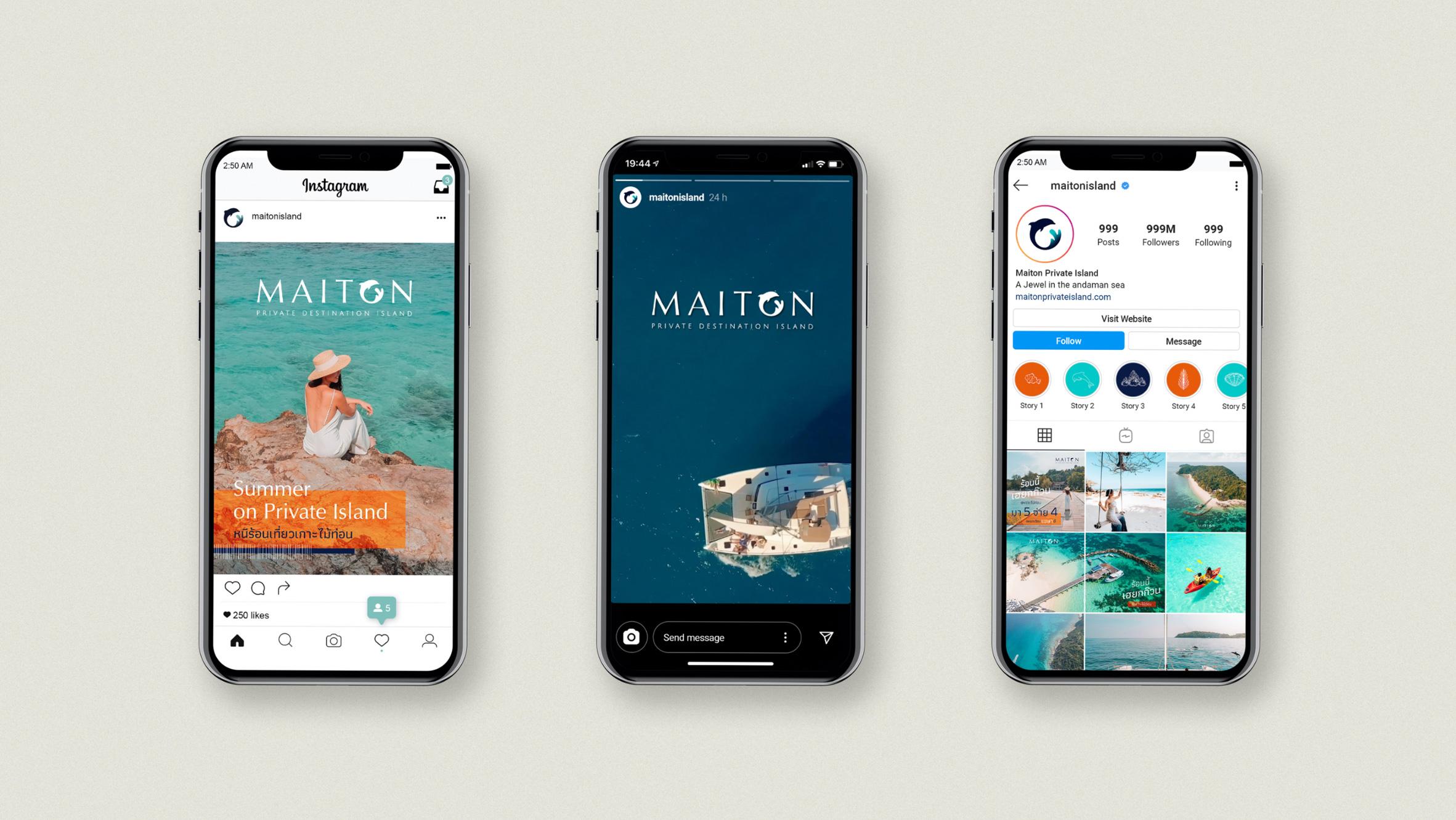 Social Media | Maiton | Simplisis Design Studio | Branding Design Agency in Phuket