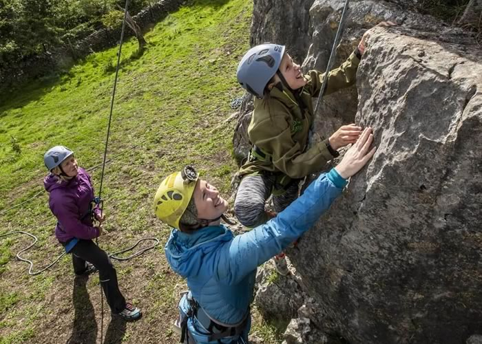 Coached climbing near Settle
