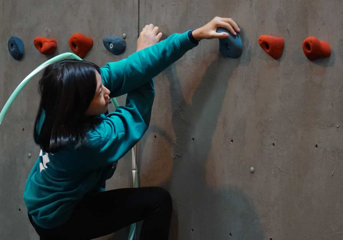 Climbing through the hoop! :-)