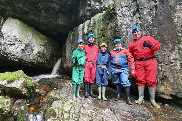 About to enter Great Douk Cave in Chapel-le-Dale