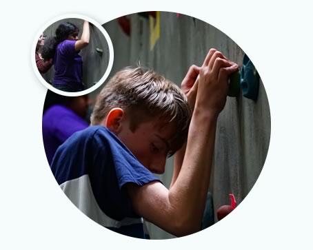 Indoor rock climbing & abseiling