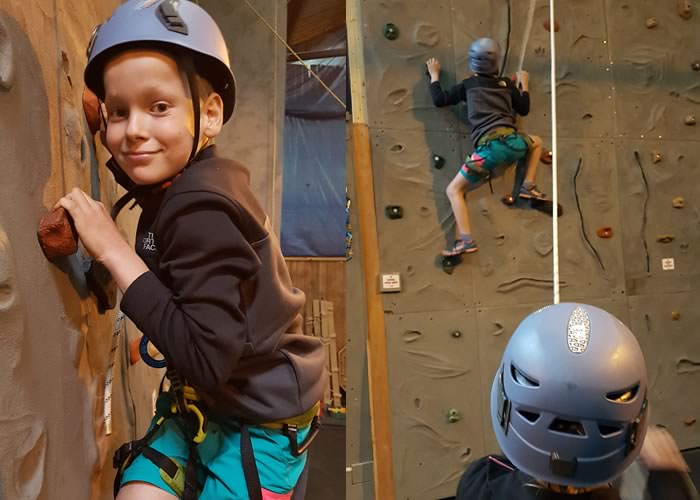 Getting to grips with YDG's very own indoor climbing wall
