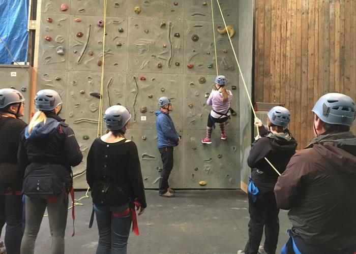 Indoor climbing at YDG
