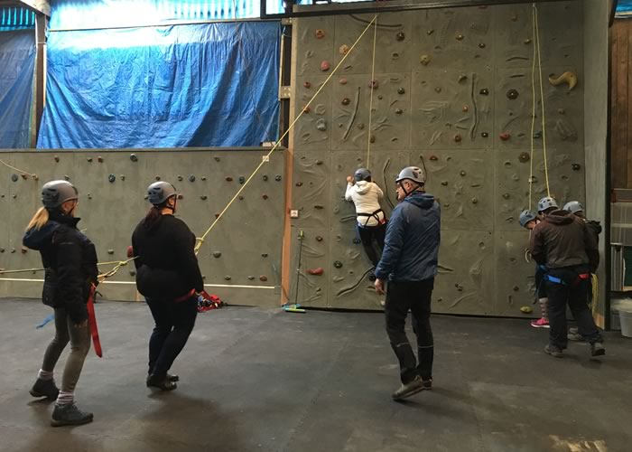 Indoor climbing at YDG as part of a corporate team building day