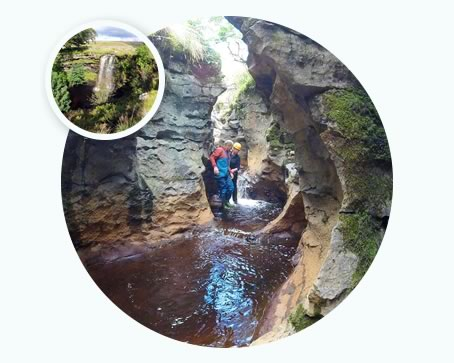 Gorge Walking in the Yorkshire Dales