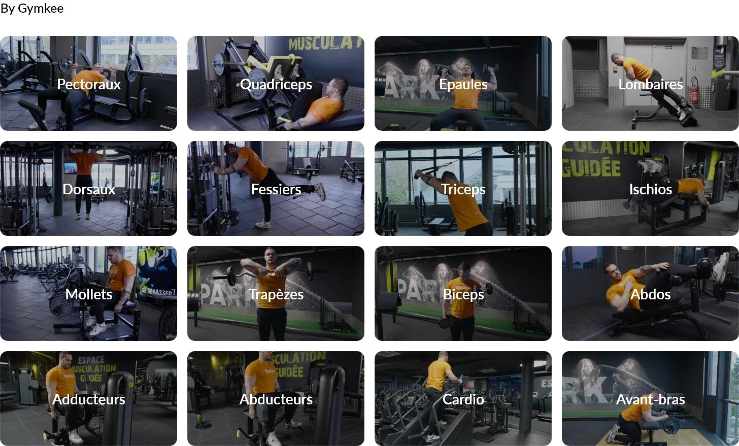 Exercices fitness en vidéo - Gymkee - Application pour coach sportif