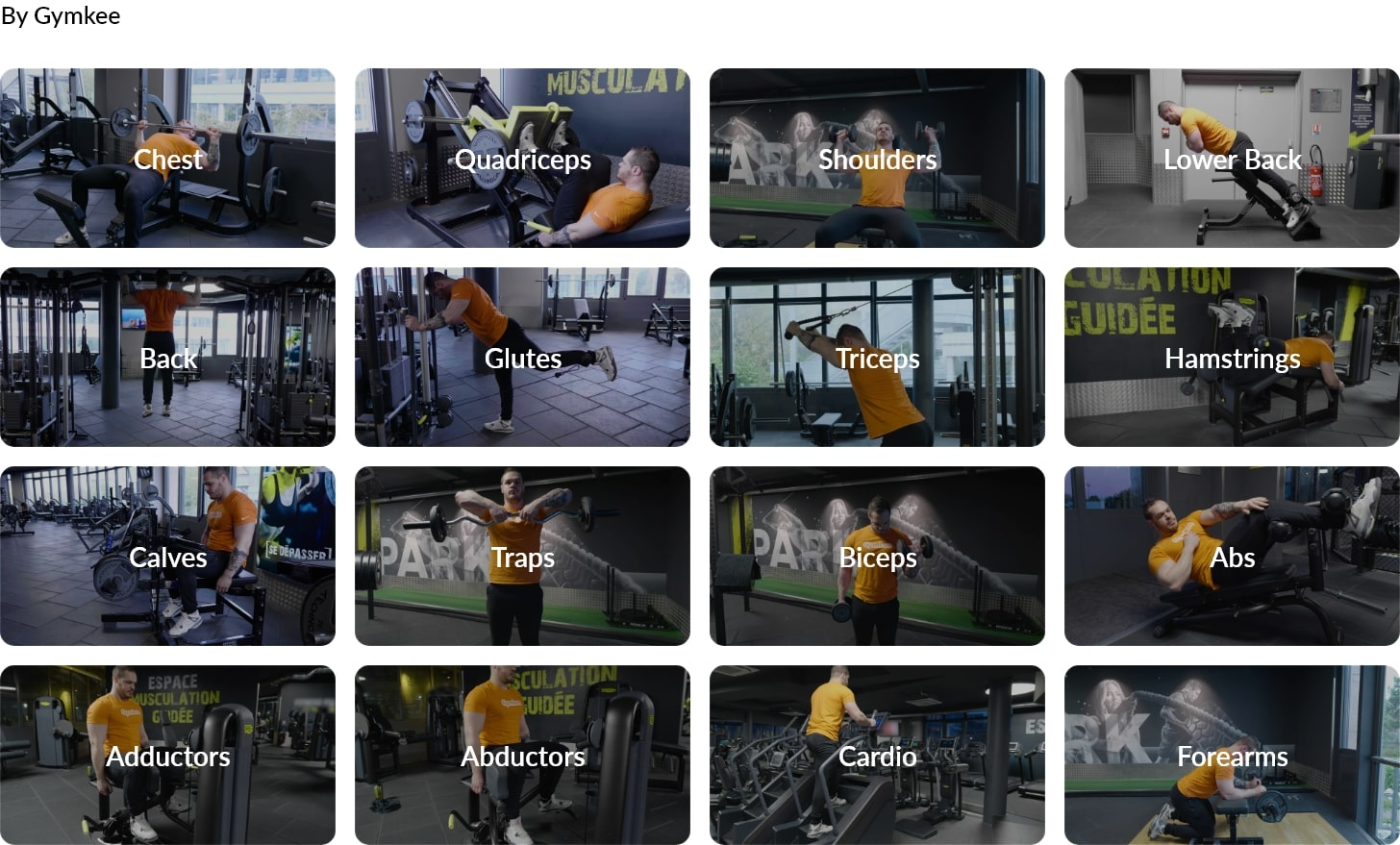 Videos for fitness- Gymkee - Personal training app