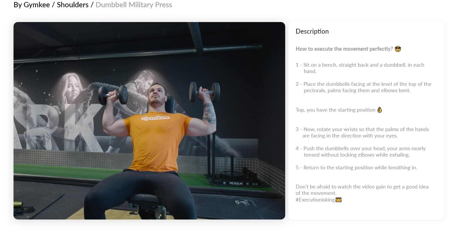 Videos for fitness - Gymkee - Personal training app