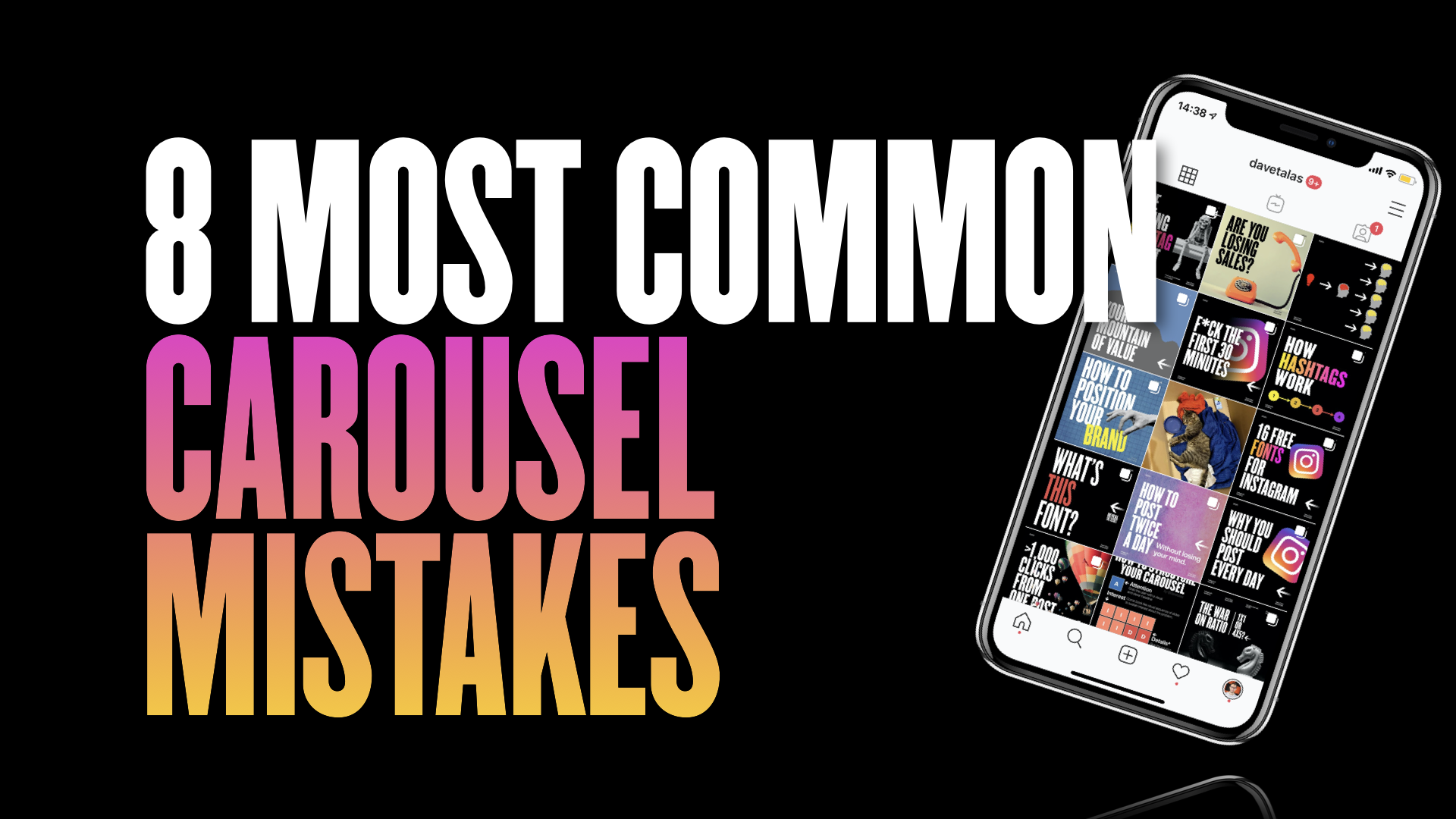 8 most common Instagram carousel mistakes