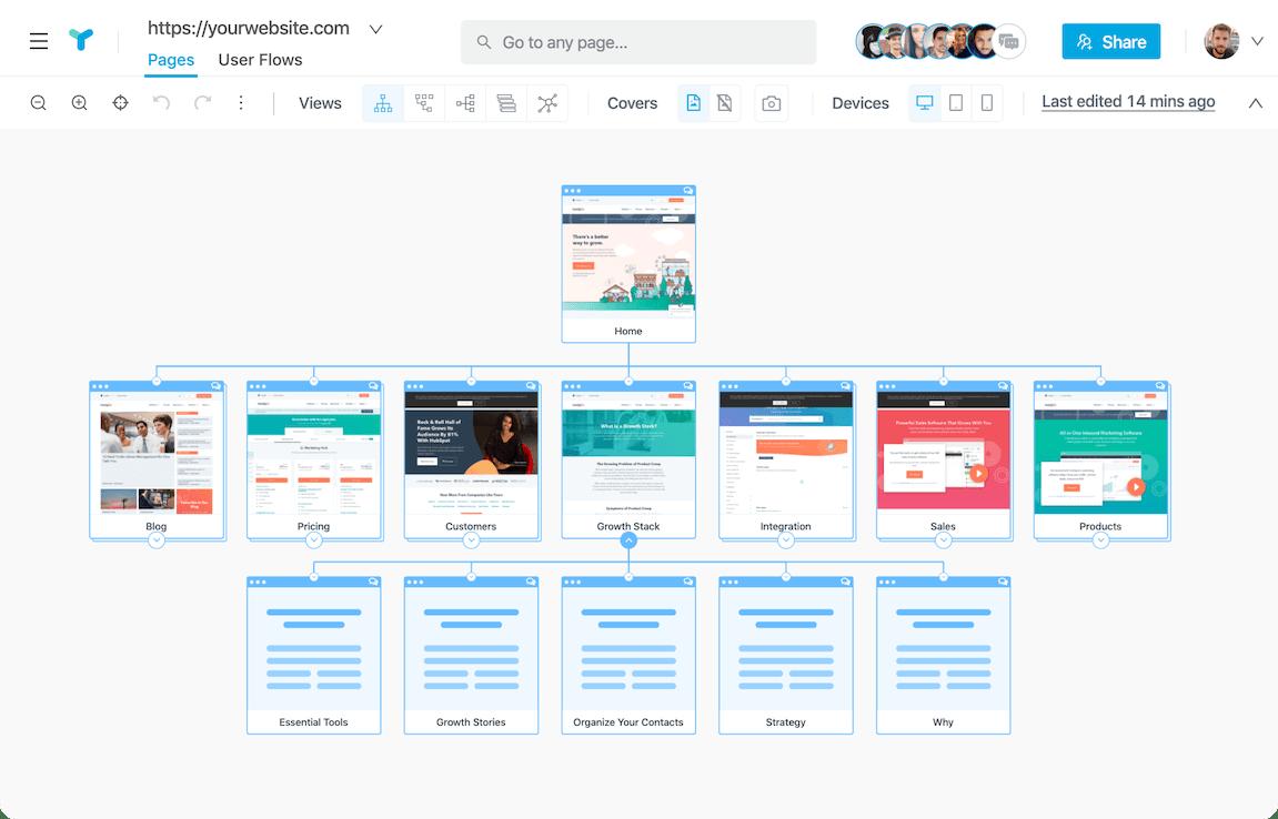 Visual Sitemap Generator  U0026 Website Planning Tool