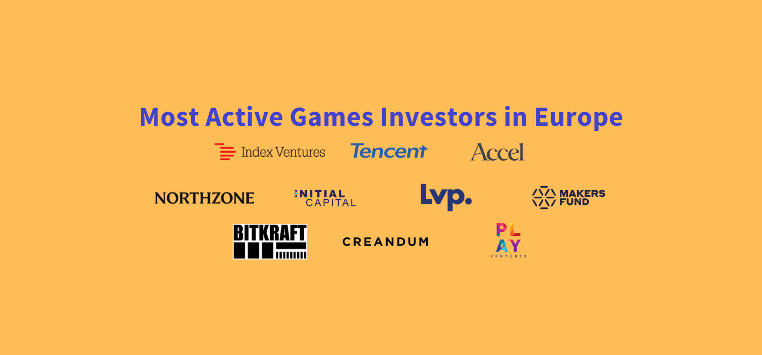Who are the most active games investors in Europe? Which VC funds invest in Video Games? Who should you speak to if you are launching a gaming startup? This top 10 list showcases the most active VC's.