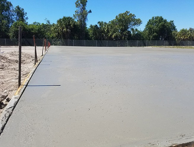 Commercial concrete slab