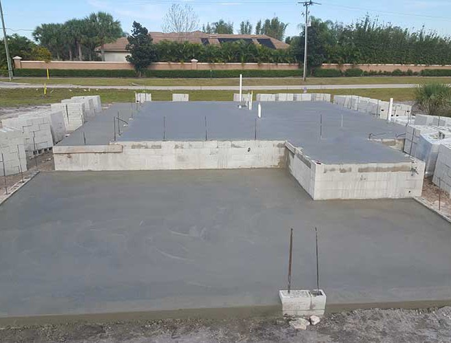 Residential concrete foundation