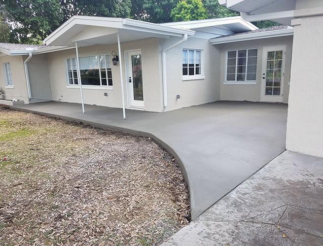 Residential concrete slab
