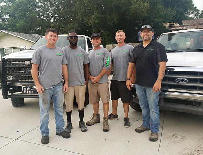 Eric Schroeder Concrete team