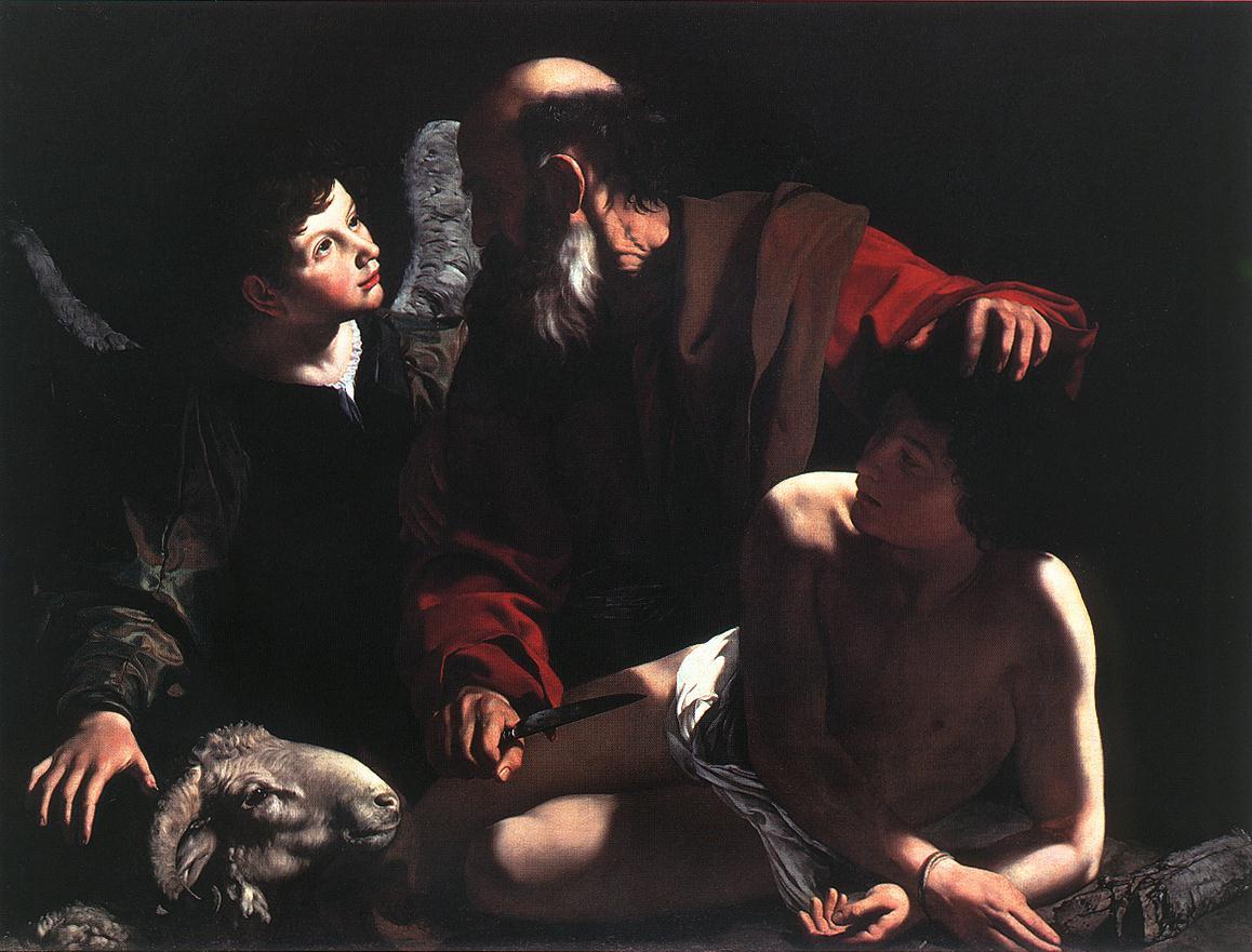 Sacrifice Isaac Abraham couteau ange Le Caravage