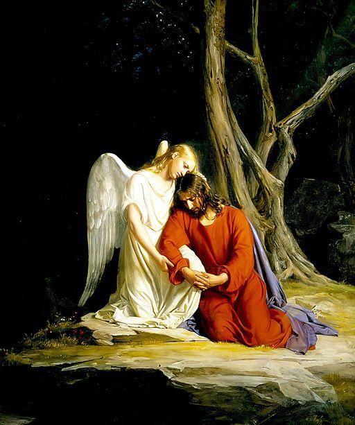 Ange réconfort Jésus arrestation Gethsémanie lumière Carl Heinrich Bloch