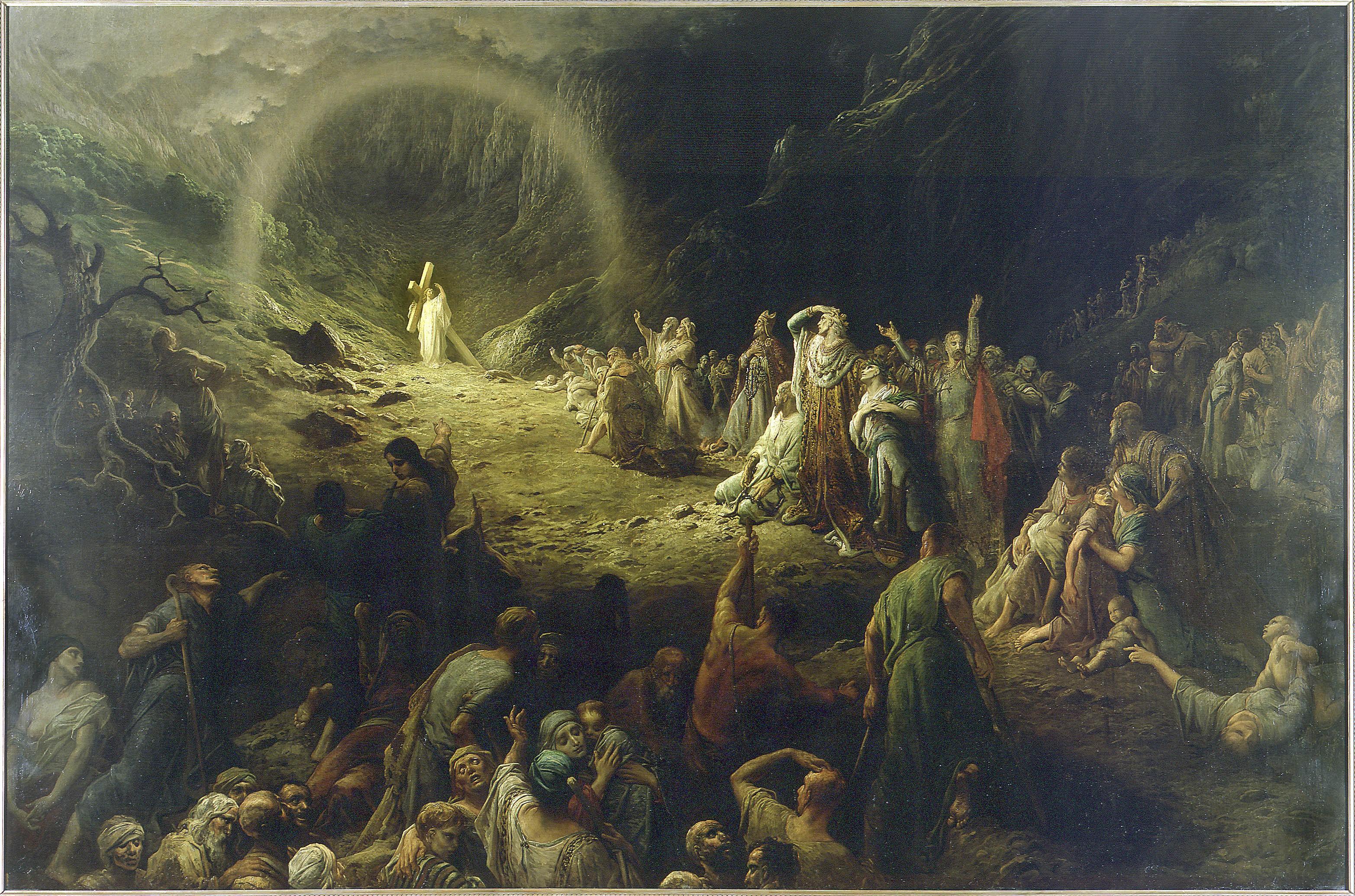 Vallée des larmes christ croix rayons tristesse Gustave Doré