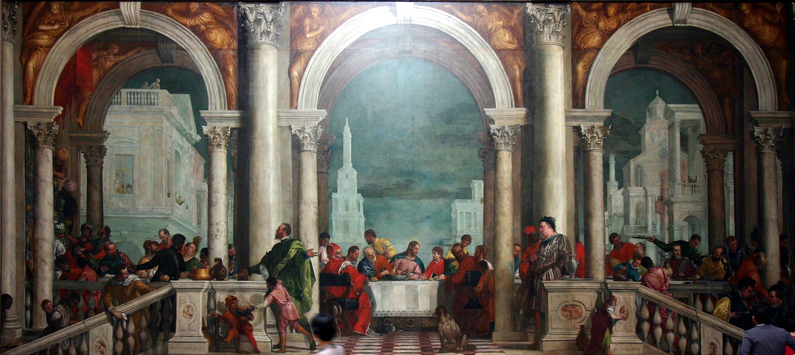 Repas chez Levi Cène dernier repas Jésus Paul Véronèse