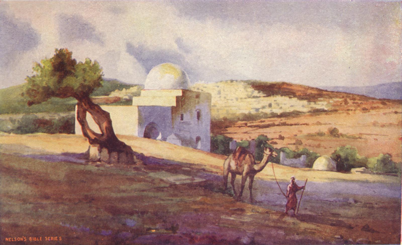 Tombe Rachel désert vallée chameaux chêne de Mambré