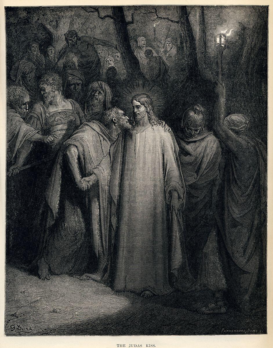 Baiser Judas arrestation Jésus soldats Gustave Doré