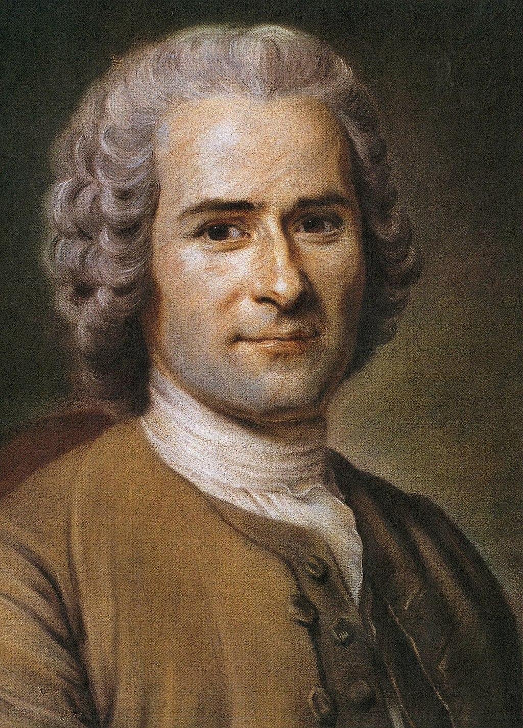 Portrait philosophe Rousseau coiffure regard