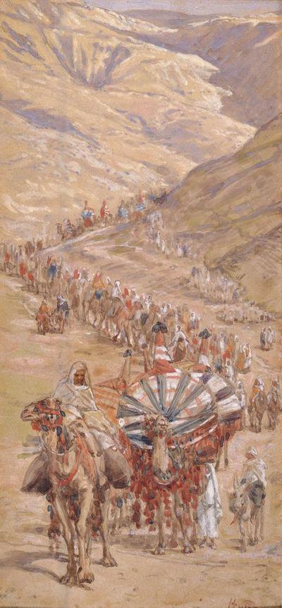 Caravane Abraham bédouine désert exode Judée James Tissot
