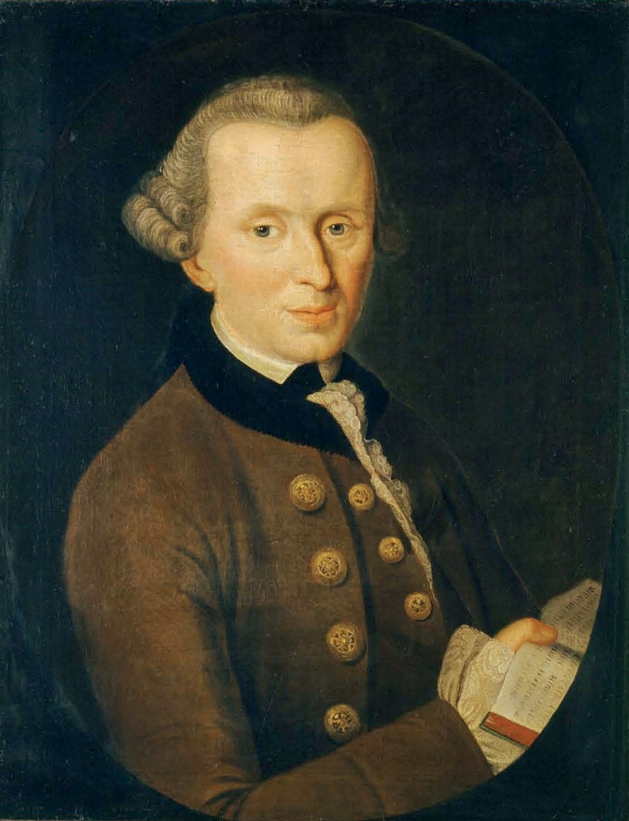 Kant portrait philosophe allemand Johann Gottlieb Becker