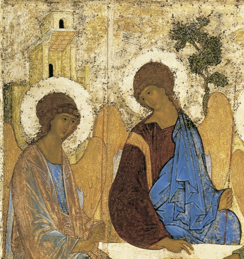Trinité Ancien Testament anges doigts christ chêne de Mambré Andreï Roublev