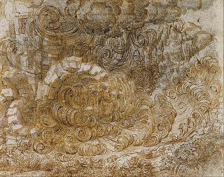 Le Déluge inondation pluie Noé Léonard de Vinci
