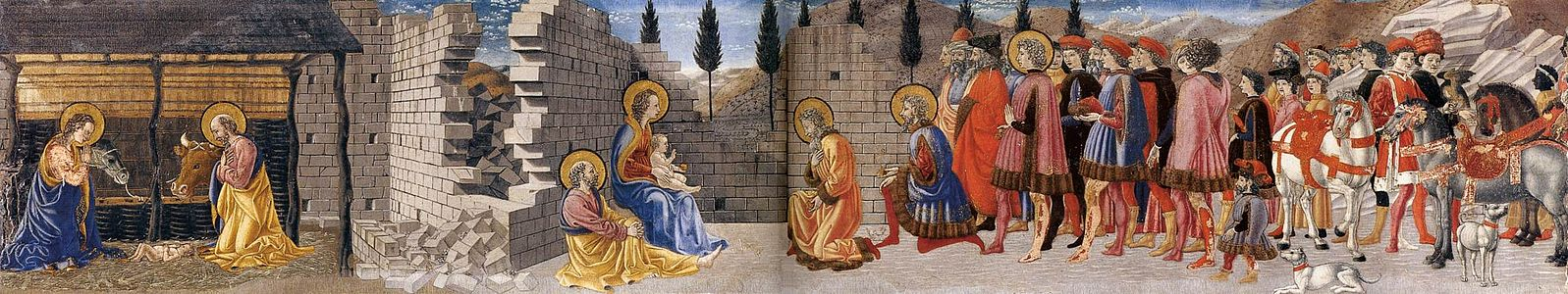 Nativité adoration mages crèche naissance Jésus Giovanni di Francesco
