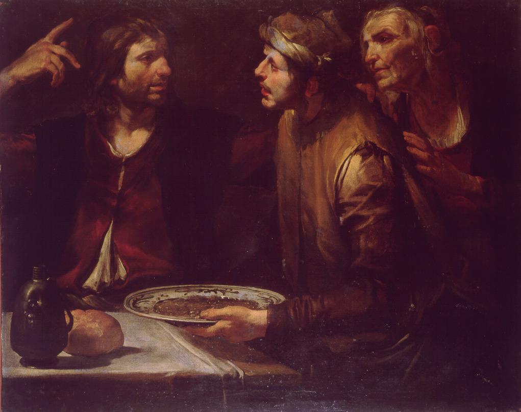 Esau vend droit de naissance plat lentille Jacob Gioacchino Assereto