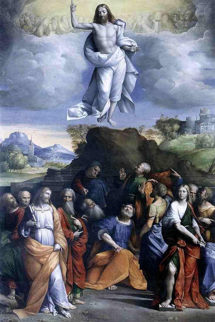 Ascension Christ montée ciel Résurrection puissance Il Garofalo