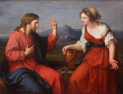 Christ eau Samaritaine puit rencontre jarre Angelica Kauffmann