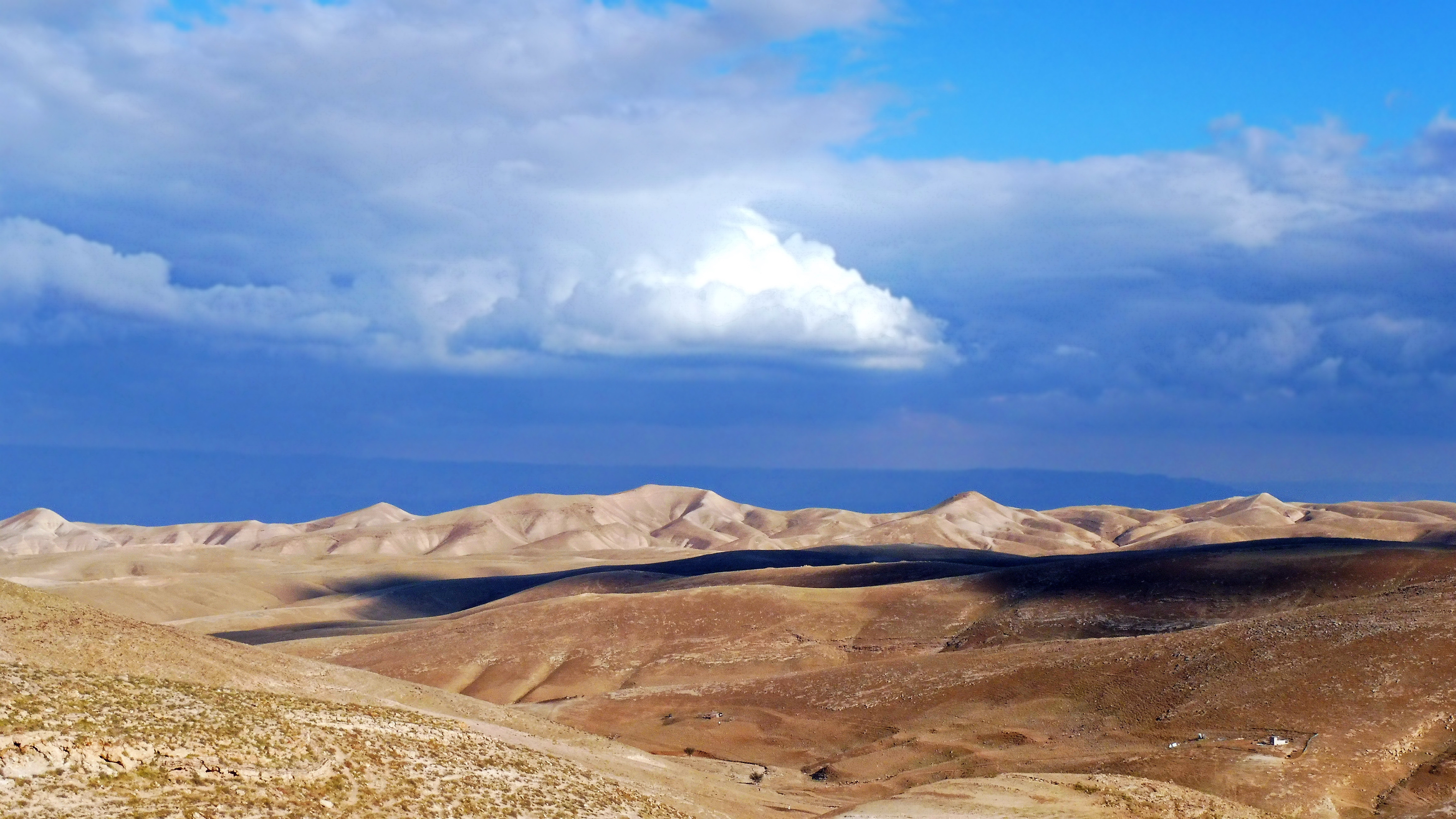 Désert Judée Jérusalem ciel mer Jéricho