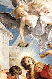 Lapidation Etienne visage blême meurtri regard implorant Pierre Paul Rubens