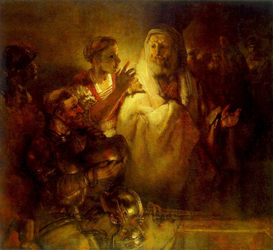 saint pierre reniement feu Jerusalem Rembrandt