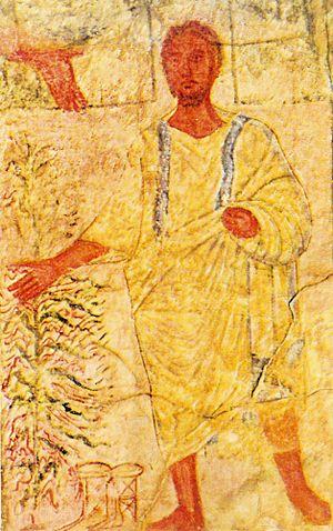 Moïse buisson ardent épreuves fresque Synagogue