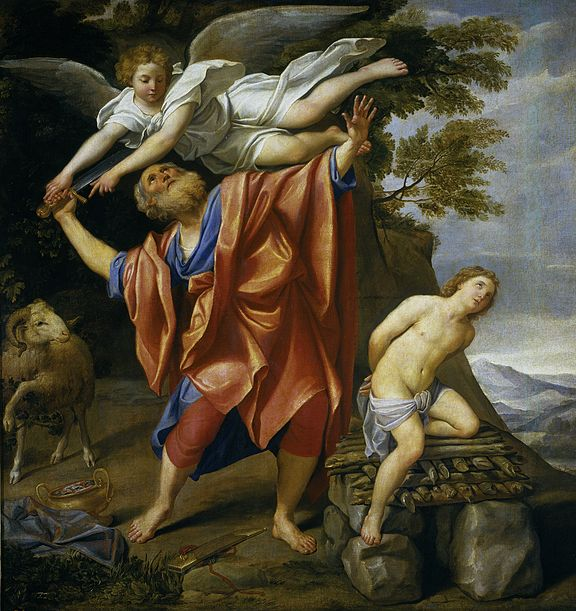 Sacrifice Isaac Abraham intervention sauver Domenichino
