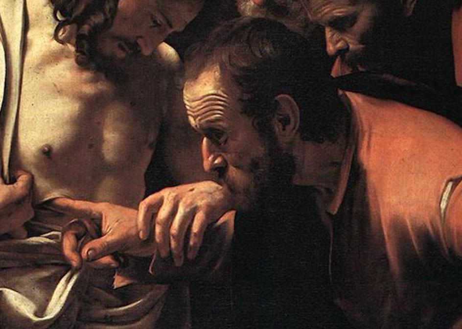 plaie doigt torse regard mains tenues Le Caravage Michelangelo
