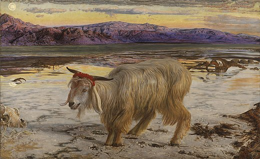 Bouc désert collines sacrifice Yom Kippour sang William Holman Hunt