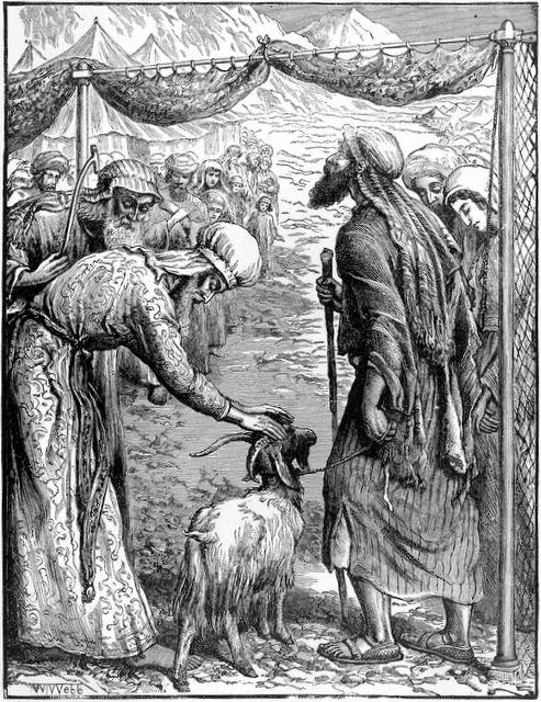 Envoi bouc émissaire sacrifice Yom Kippour boucherie sang péchés William Holman Hunt
