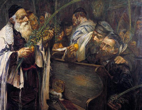 Sukkot fête juive synagogue cabanes Leopold Pilichowski