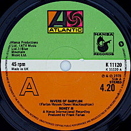 Musique disco album Boney M Rivers of Babylon