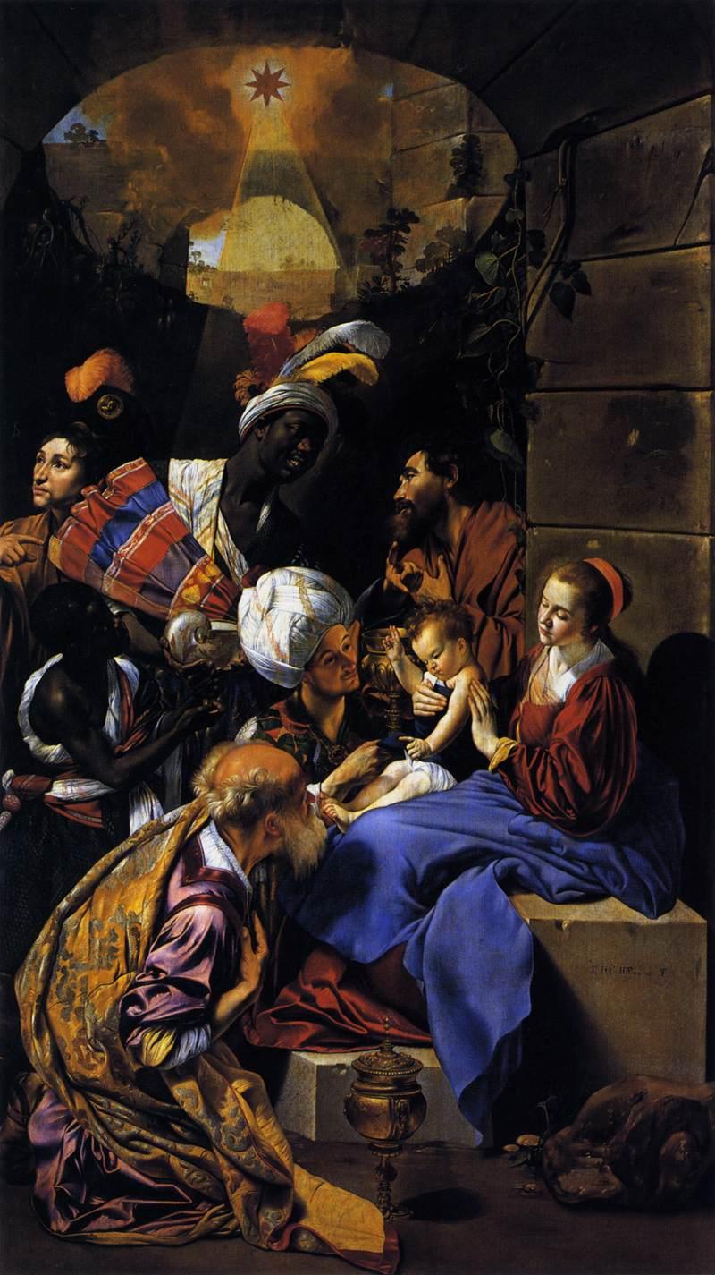 Adoration rois mages visite Jésus Nativité Fray Juan Bautista Maino