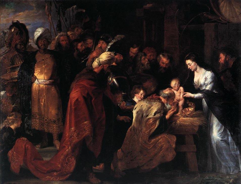 Adoration rois mages visite Jésus Nativité Pierre Paul Rubens