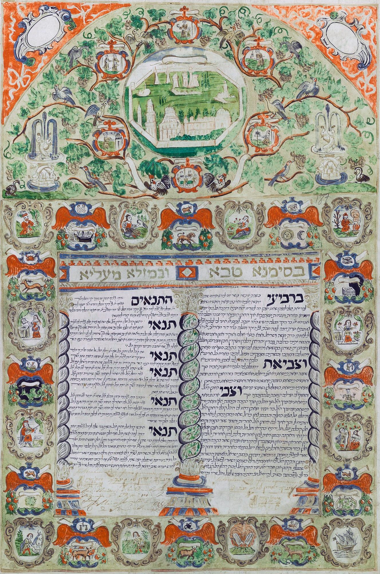 ketoubah contrat mariage juif union Abraham Dona