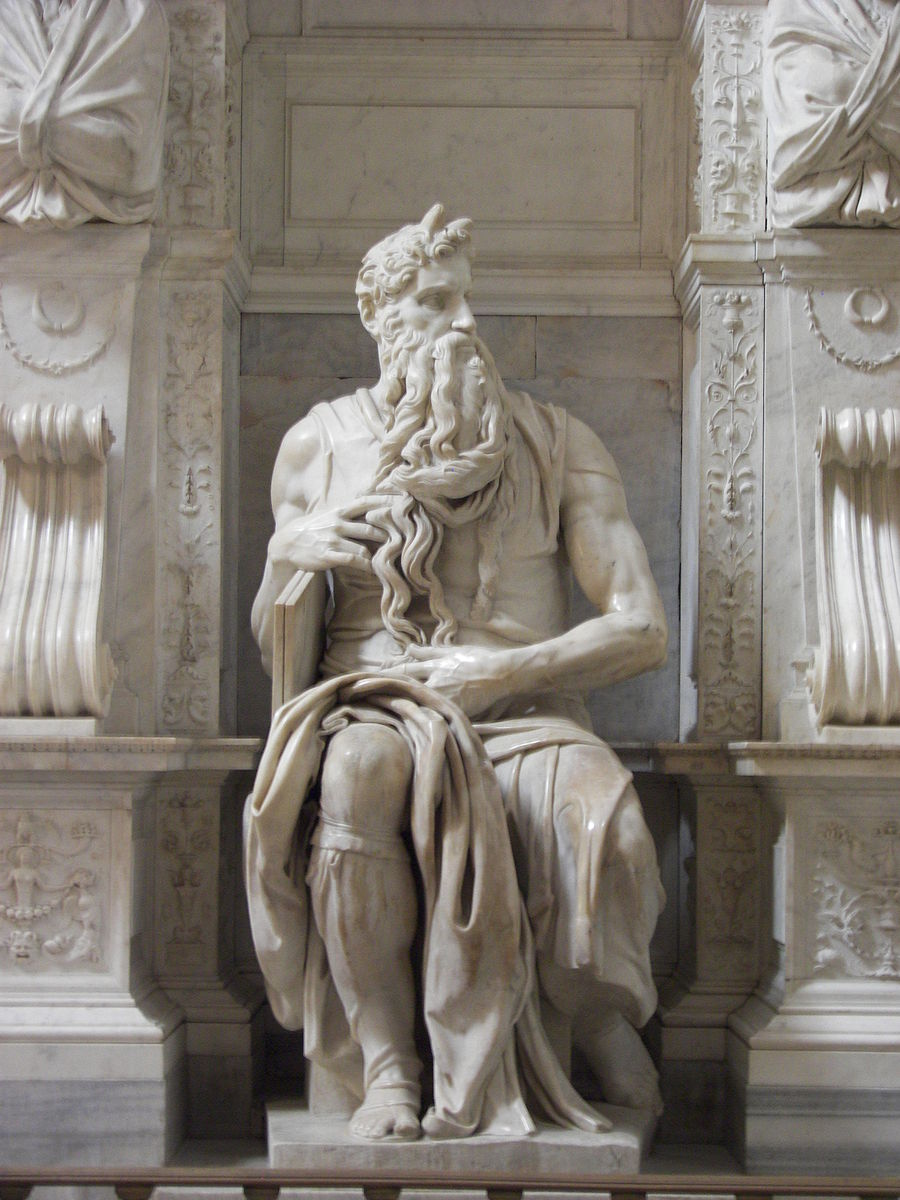 Sculpture Moïse guide peuple Michel-Ange