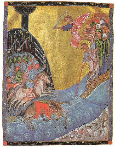 ouverture passage mer Rouge Israélites fuite armée Toros Roslin