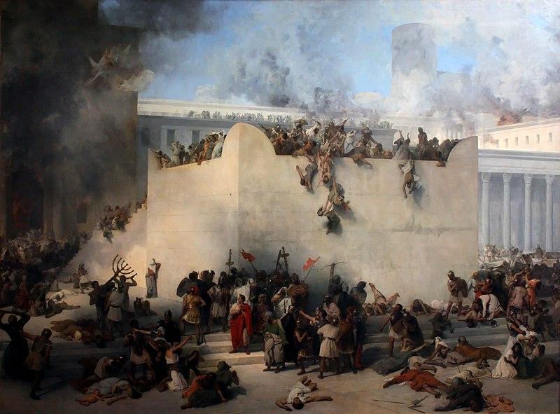 temple jerusalem destruction foule fumée Hayez